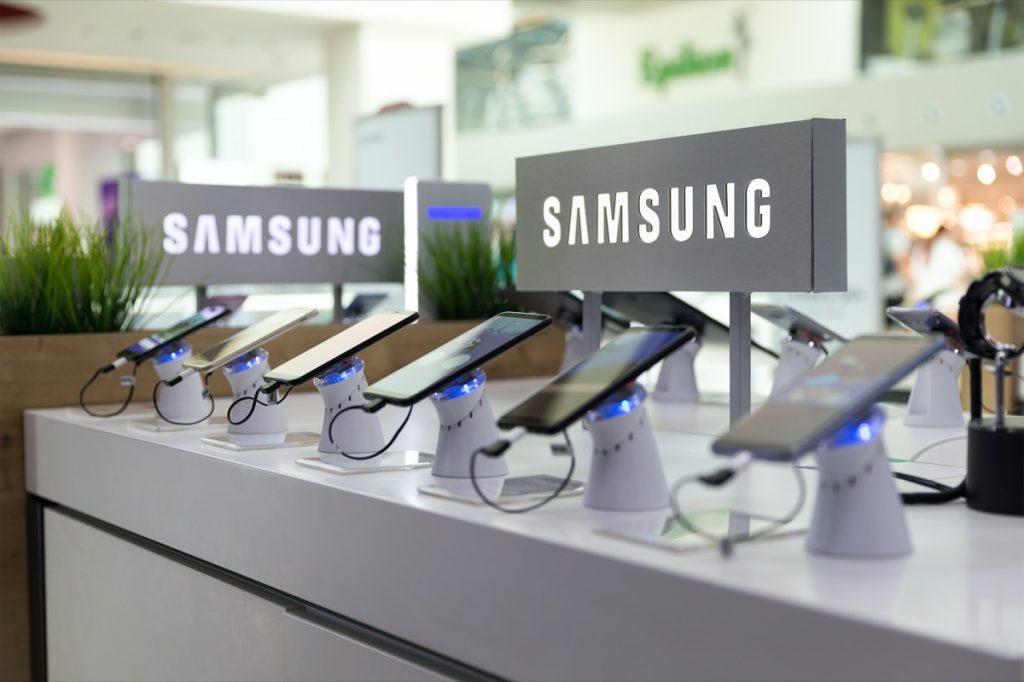 display of samsung tablets
