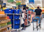 People shopping at Walmart