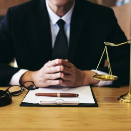 close up of lawyer at his desk