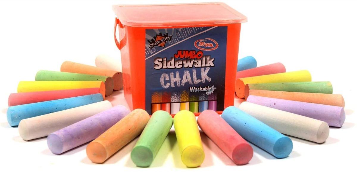 20 piece set of sidewalk chalk