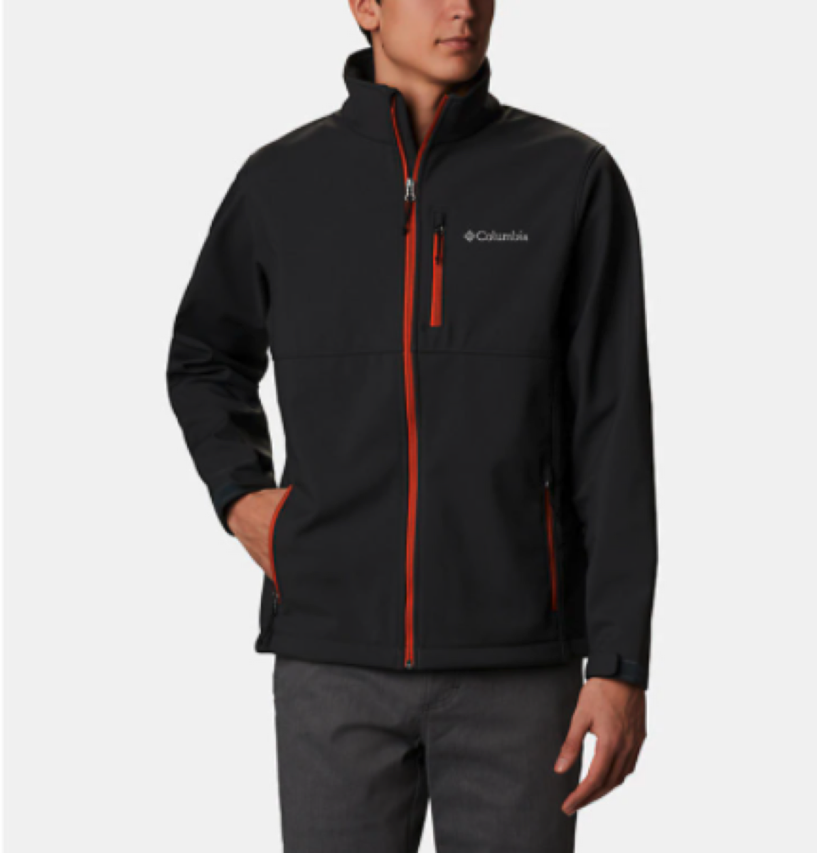 A black softshell jacket