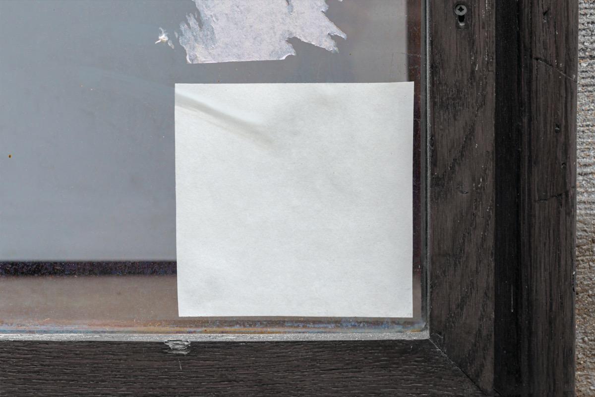 sticker residue on window
