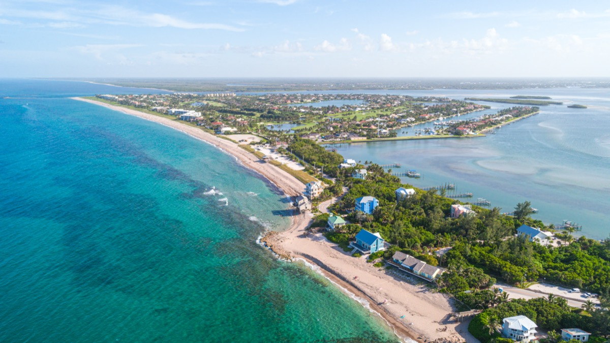 aerial view of stuart, florida