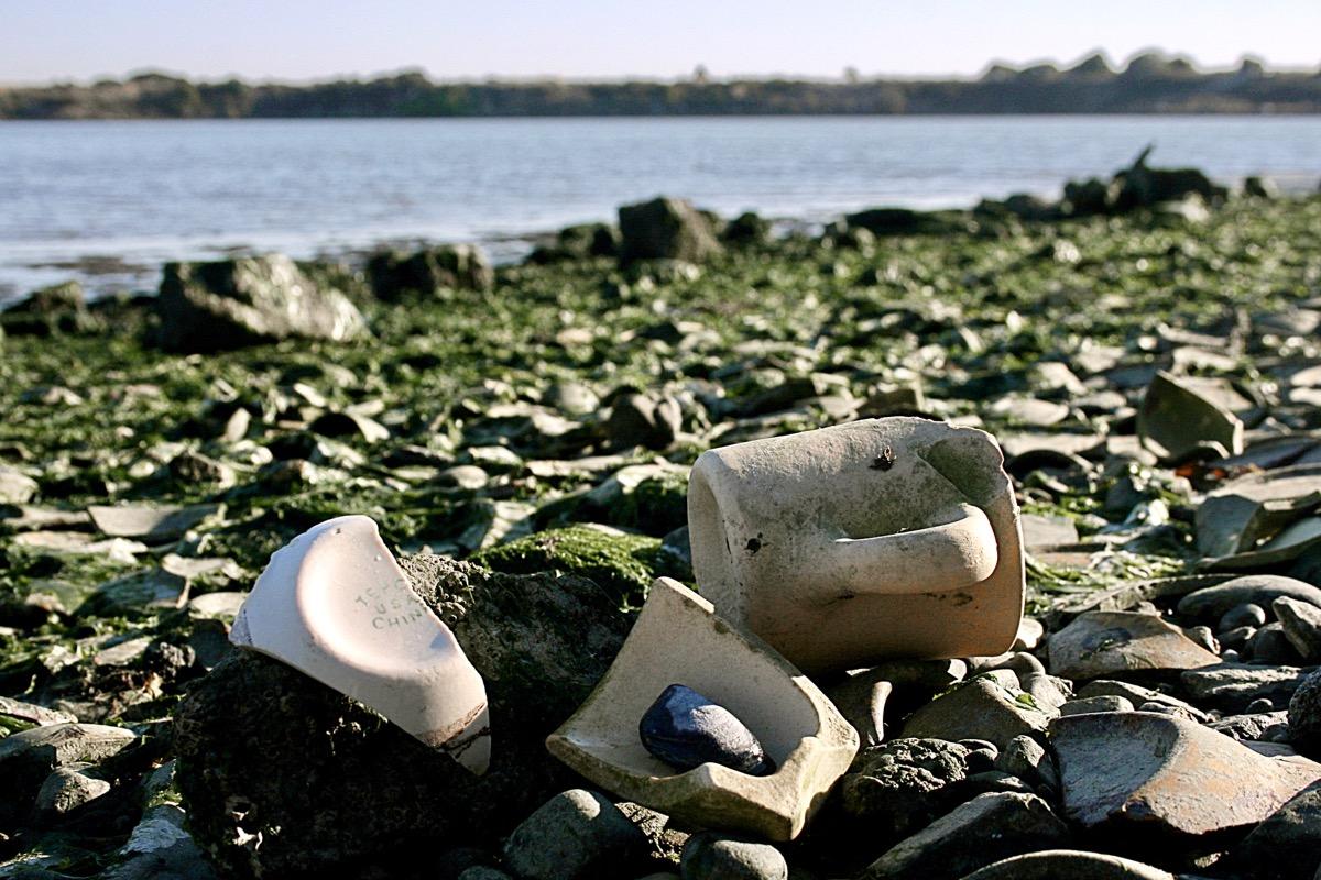 pottery on tepco beach
