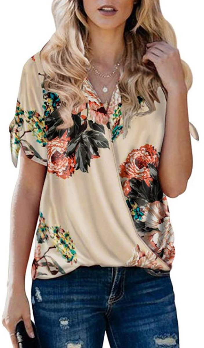 A women's v-neck blouse