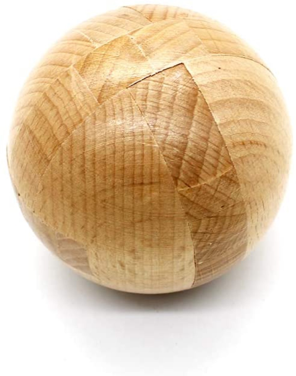 wooden puzzle ball toy
