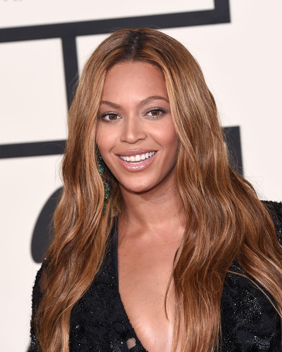 Beyonce in black top