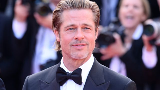 """Brad Pitt at the premiere of """"Once Upon a Time in Hollywood"""" at the Cannes Film Festival in 2019"""