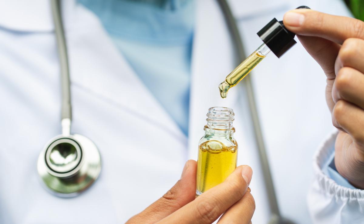 Doctor testing CBD oil