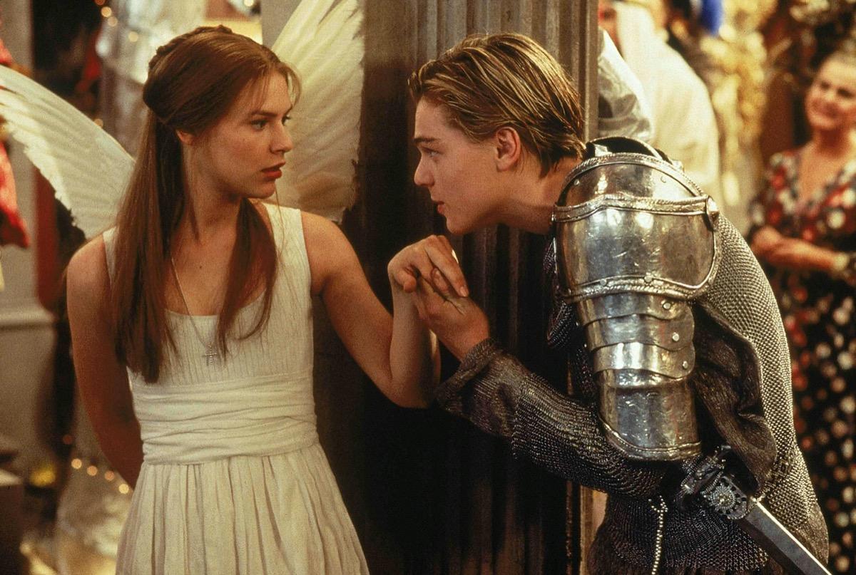 Claire Danes and Leonardo DiCaprio in Romeo + Juliet