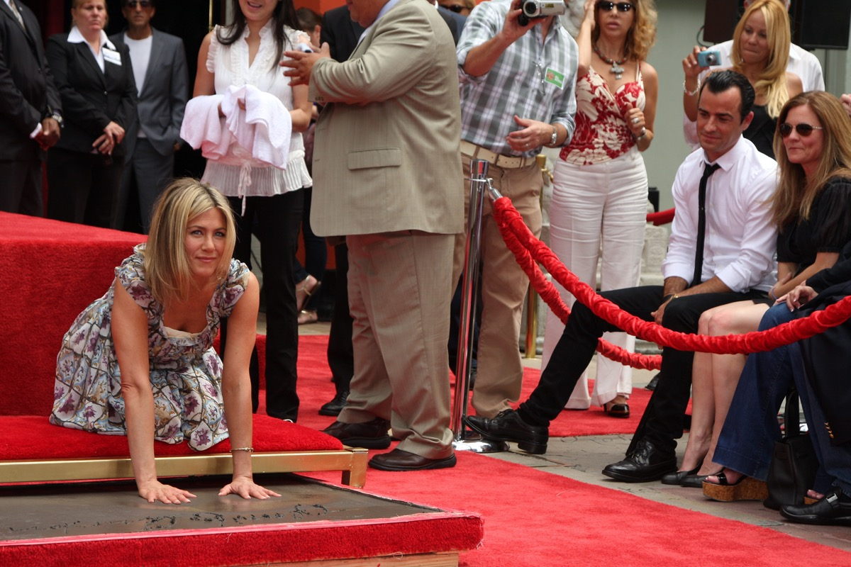 Jennifer Aniston handprint ceremony 2011