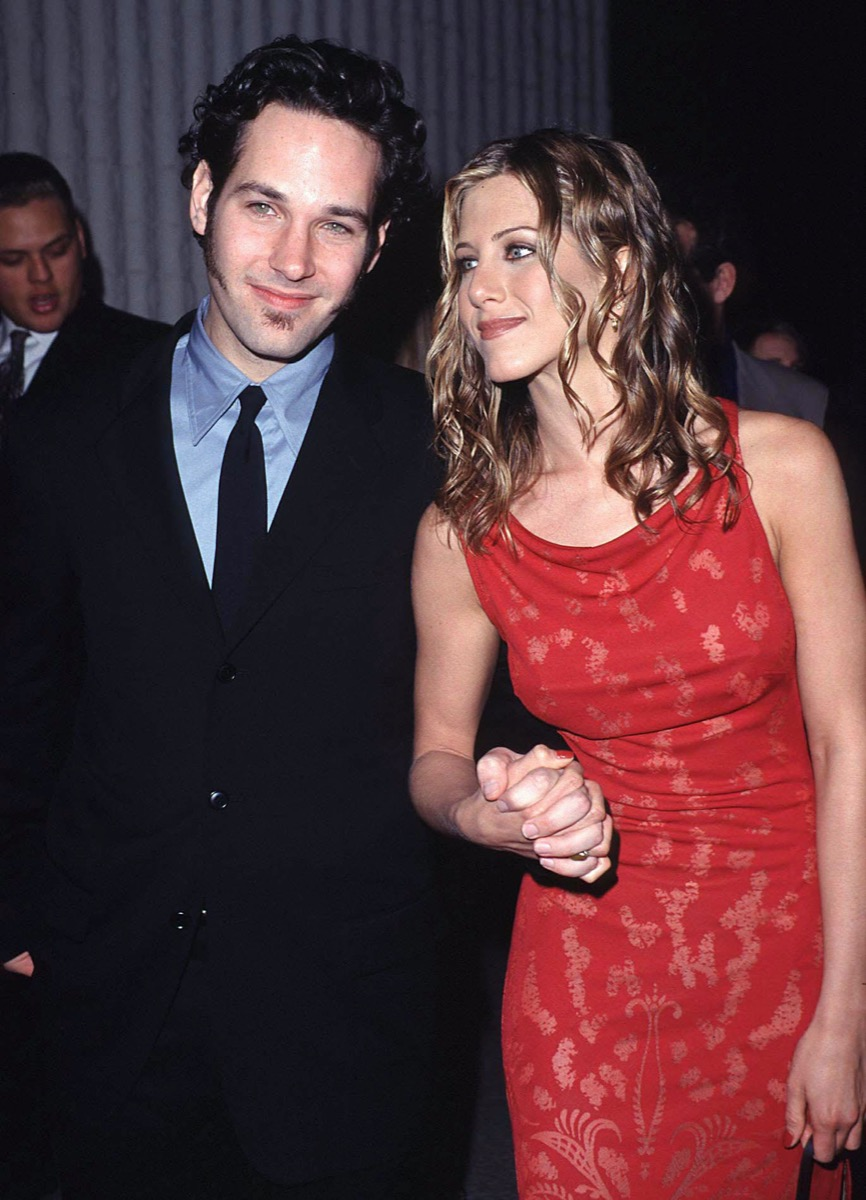 Jennifer Aniston and Paul Rudd in 1998