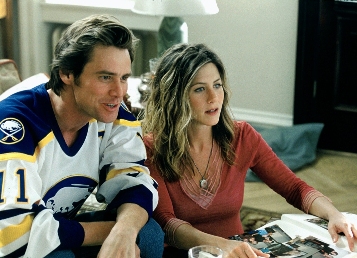Jim Carrey and Jennifer Aniston in Bruce Almighty