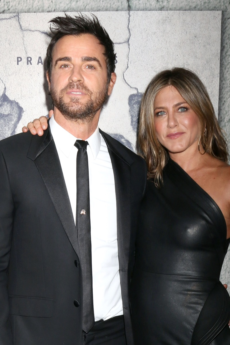 Justin Theroux and Jennifer Aniston 2017
