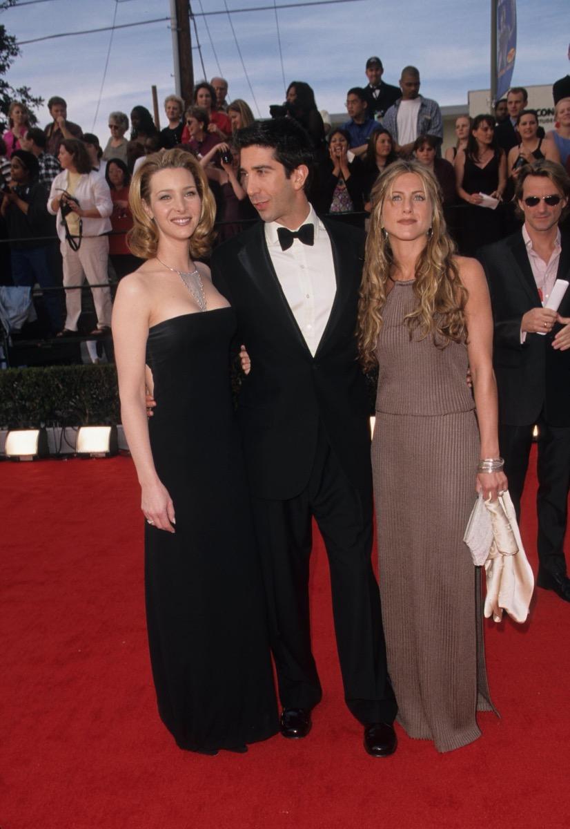 Lisa Kudrow, David Schwimmer, and Jennifer Aniston at 2000 SAG Awards