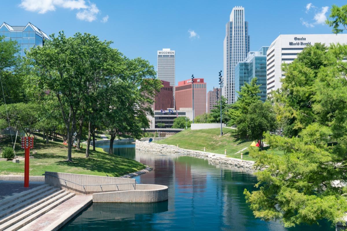 cityscape photo of Omaha, Nebraska in the afternoon