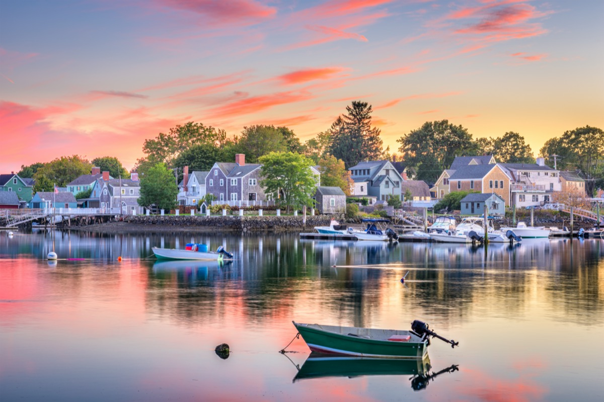 townscape photo of Portsmouth, New Hampshire at sunset