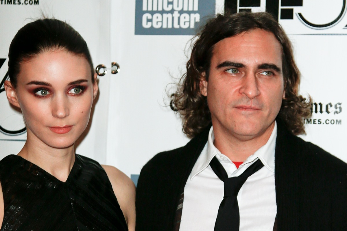 """Rooney Mara and Joaquin Phoenix at the premiere of """"Her"""" at the NY Film Festival in 2013"""