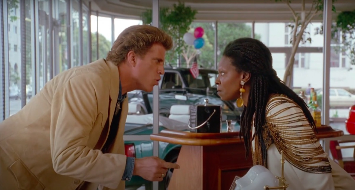 Ted Danson and Whoopi Goldberg in Made in America