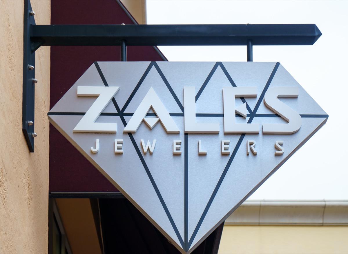 Strip Mall Zales sign