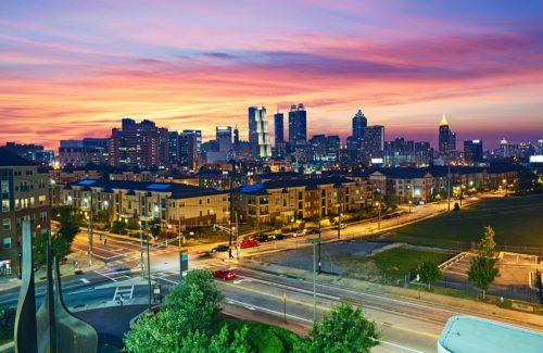 cityscape photo of Atlanta, Georgia at dusk
