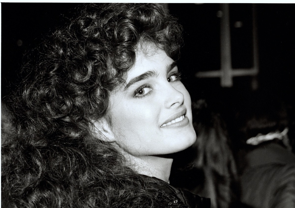 black and white photo of brooke shields