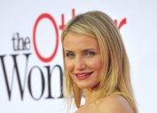 Cameron Diaz talks about whether she'll act again red carpet stock photo
