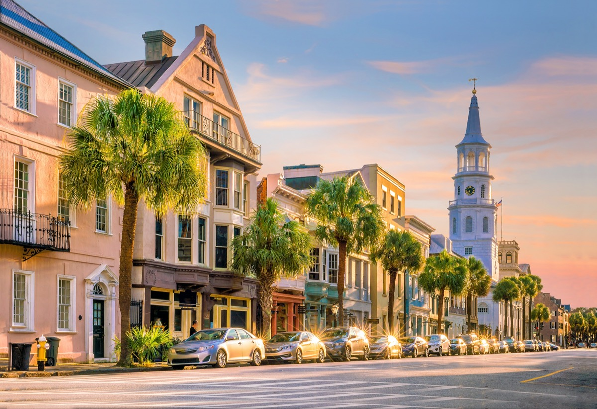 downtown area of Charleston, South Carolina in the afternoon