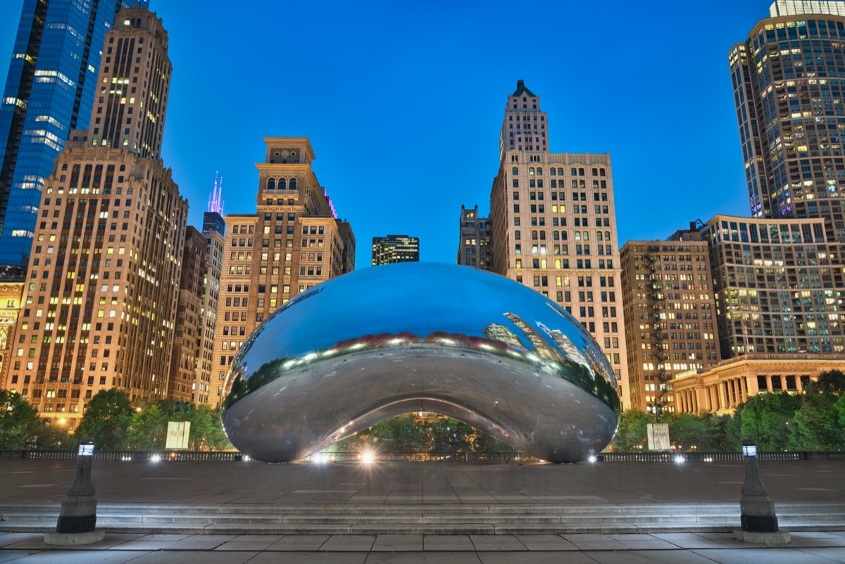 the downtown area and bean in Chicago, Illinois