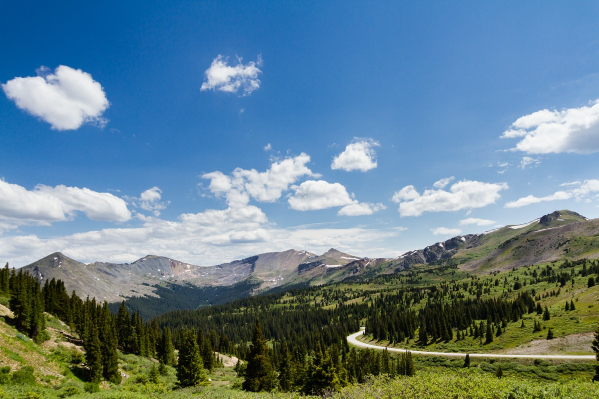 landscape photo of Cottonwood Pass, Colorado in the afternoon