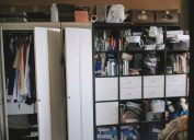 walk in closet and storage room