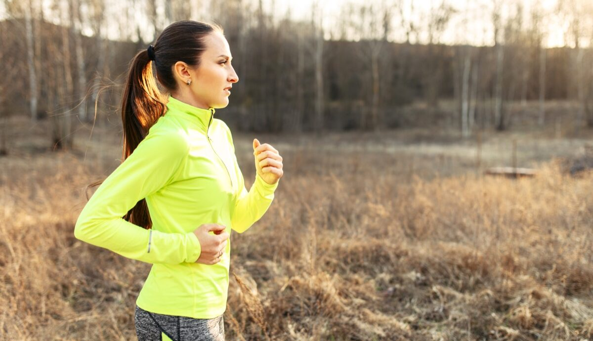 Woman exercising going for a run in the morning