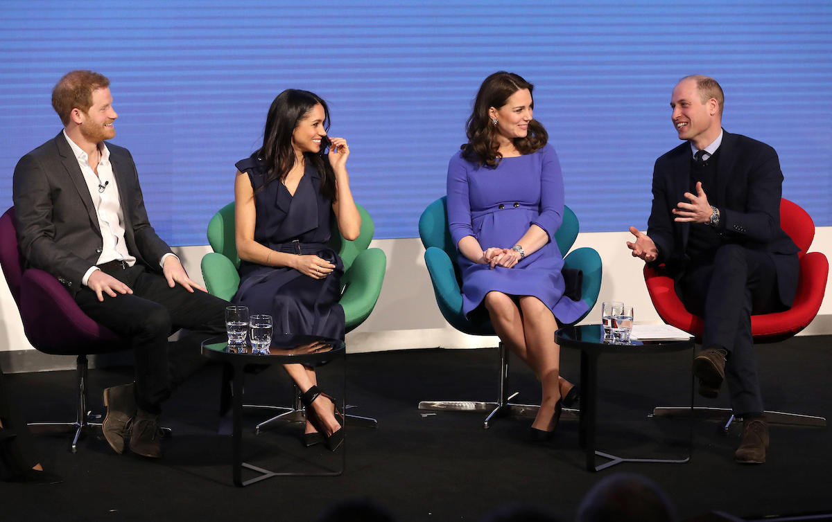 Prince Harry, Meghan Markle and the Duchess and Duke of Cambridge during the first Royal Foundation Forum in central London.