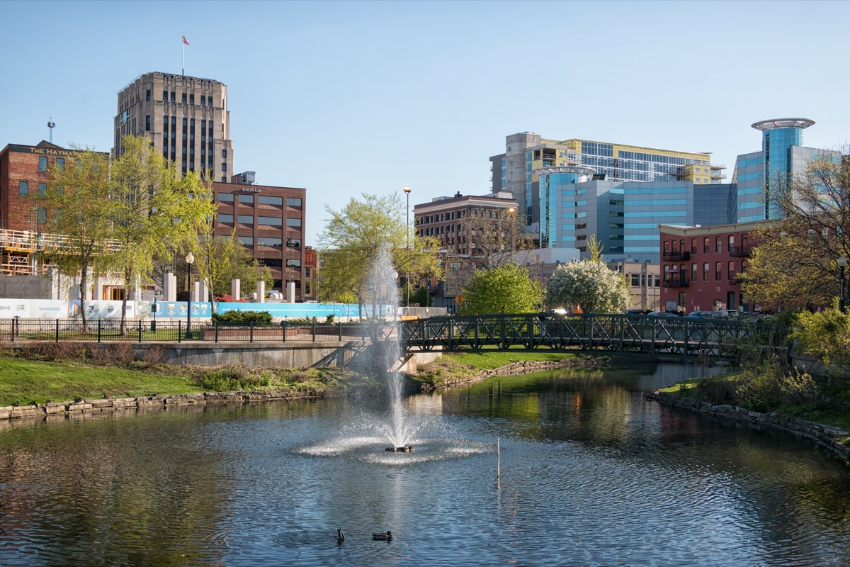 cityscape photo of Kalamazoo, Michigan in the afternoon