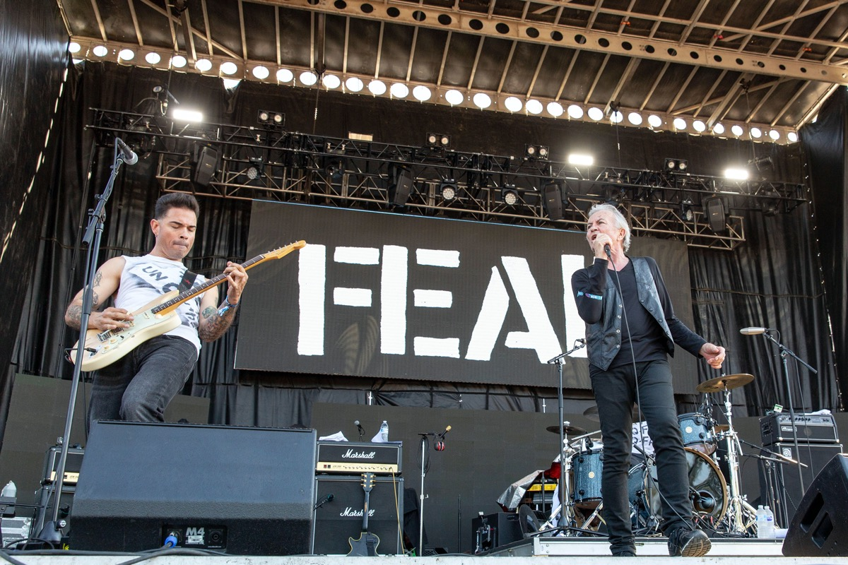 lee ving performing with punk band fear on stage