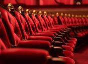 red movie theater chairs