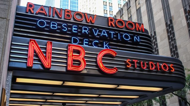 NBC sign outside SNL studio