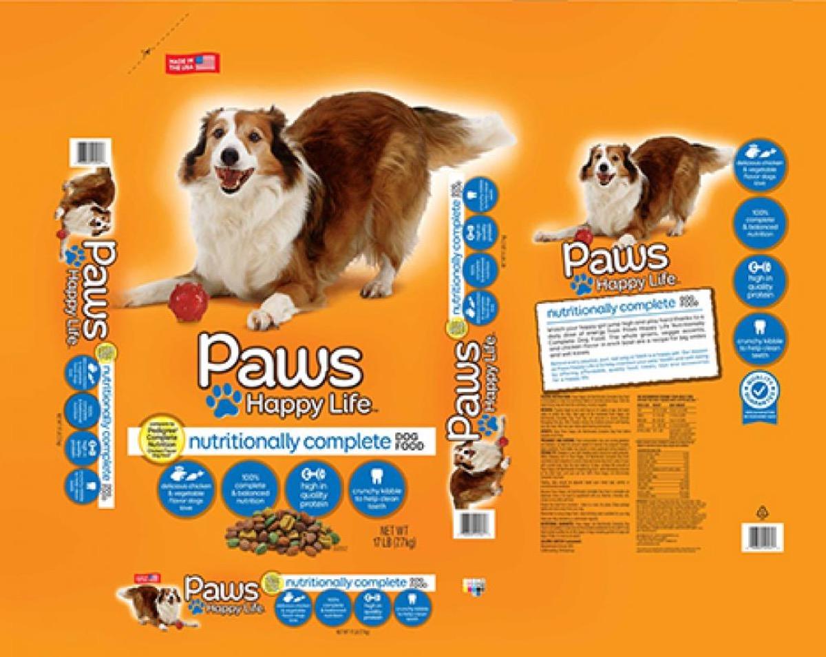 paws happy life dog food