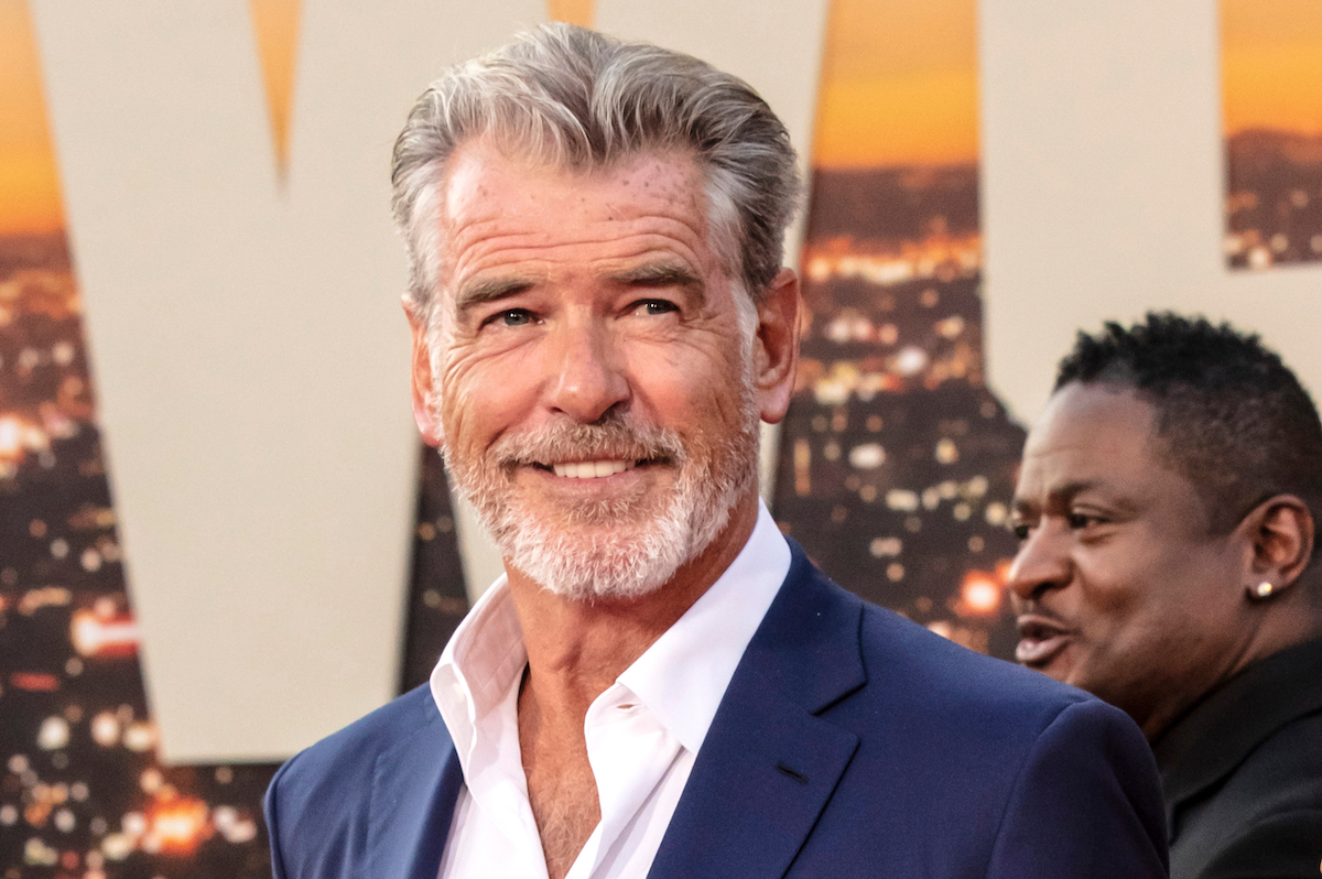 """Pierce Brosnan attends The Los Angeles Premiere Of """"Once Upon a Time in Hollywood"""" held at TCL Chinese Theatre in July 2019"""