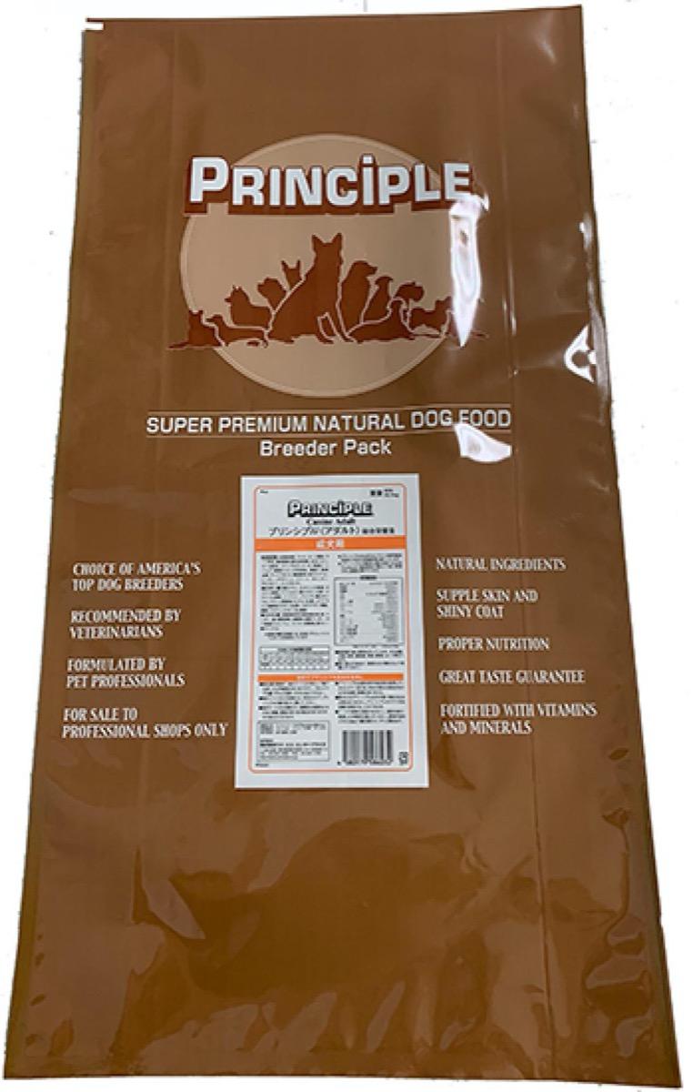 principle dog food bag