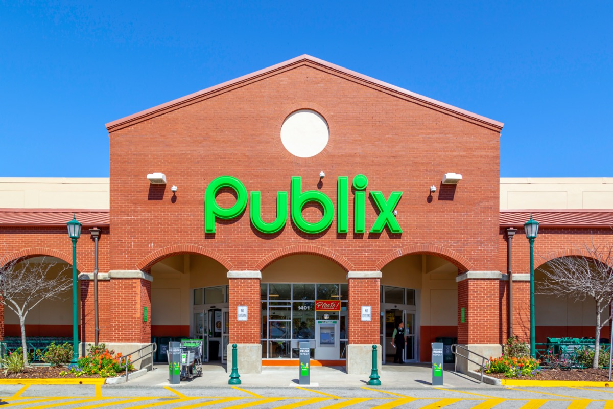 Exterior view of one Publix Super Markets in Charleston, South Carolina