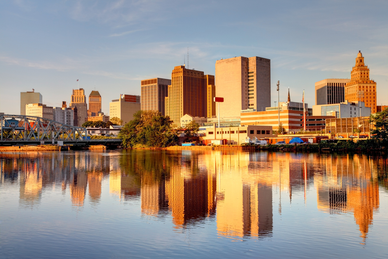 The skyline of Newark, New Jersey