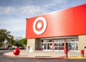 target store front with blue sky