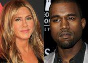 Jennifer Aniston and Kanye West