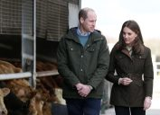Royal Visit to Ireland by The Duke and Duchess of Cambridge. Pictured British royal couple Prince William and Kate Middleton beside cattle on a Teasgasc farm in Co Kildare as they visit Ireland in their first official visit to the Irish State.