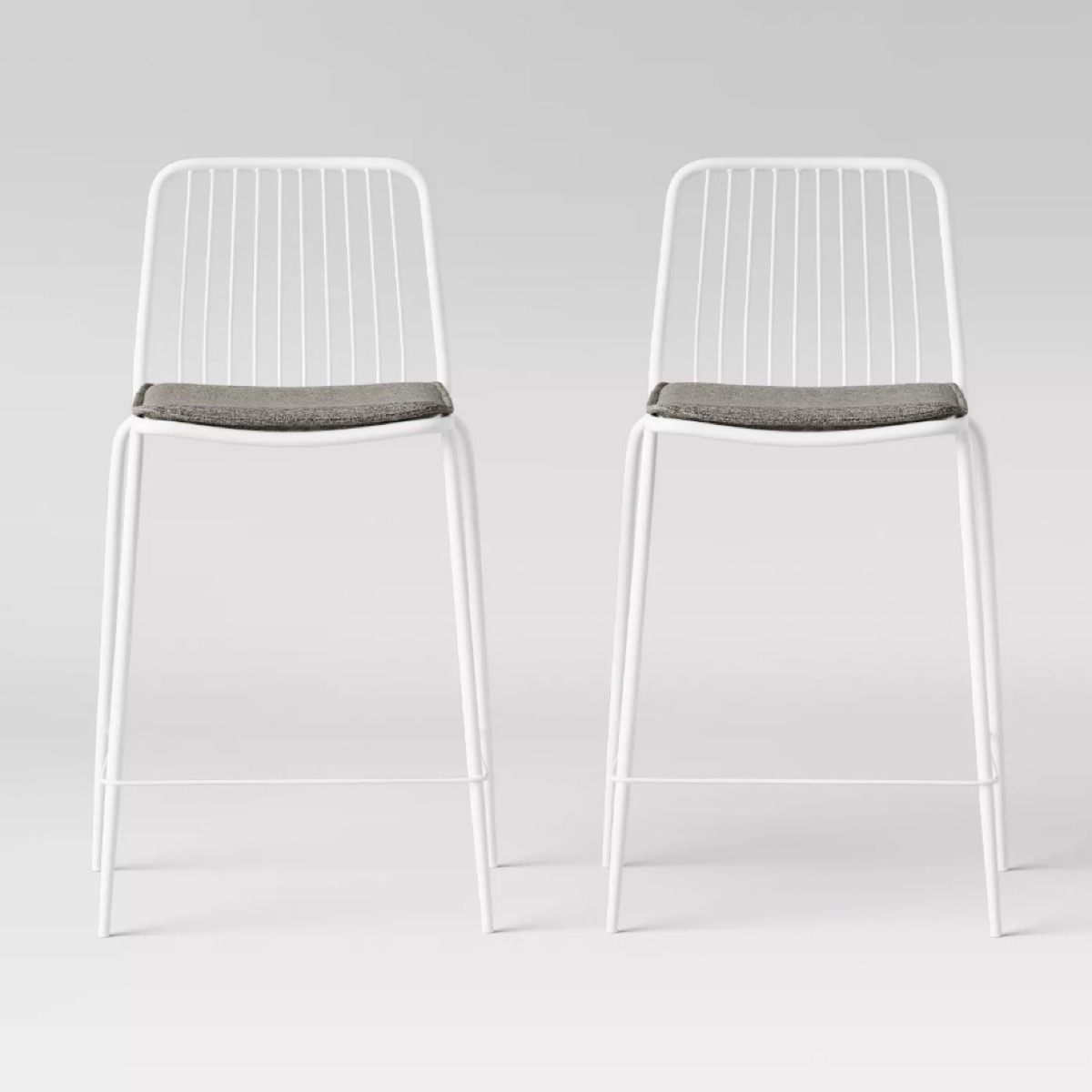 white wire stools