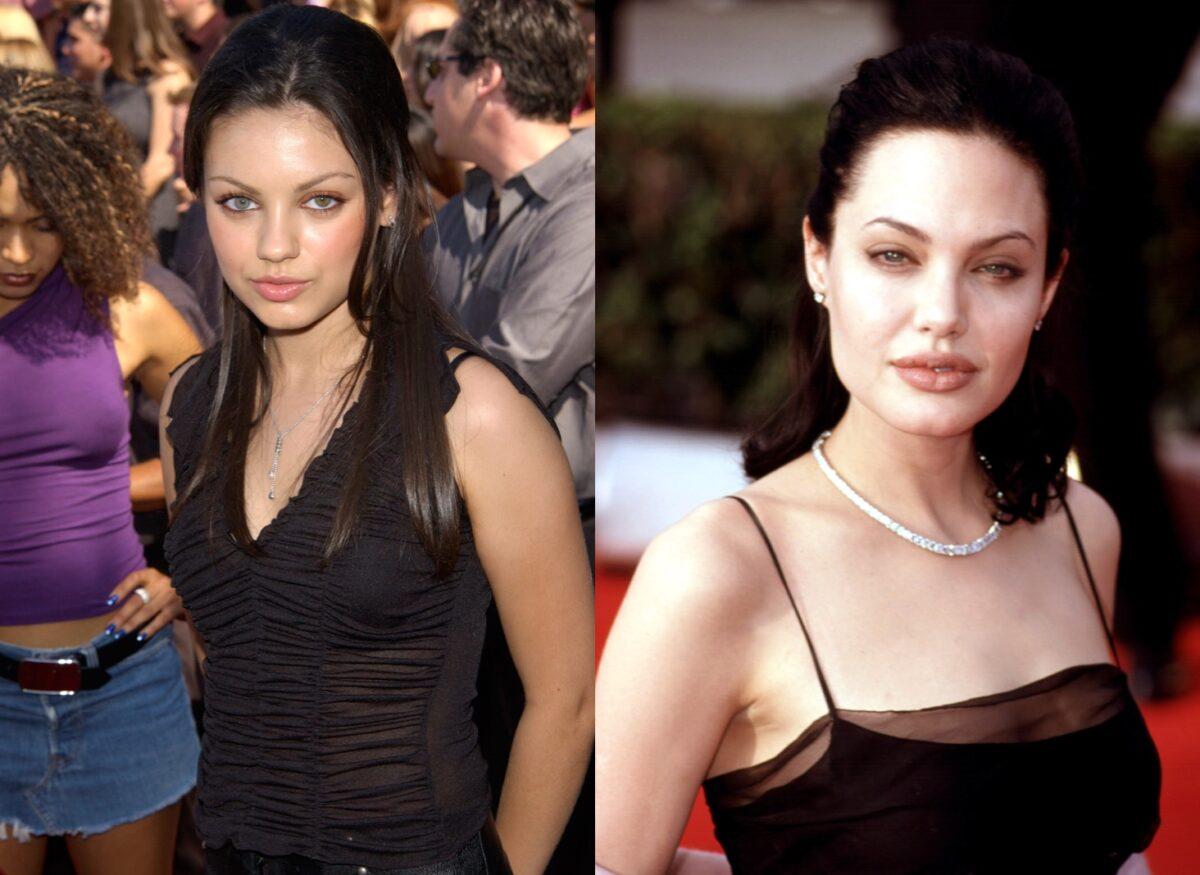 Mila Kunis and Angelina Jolie