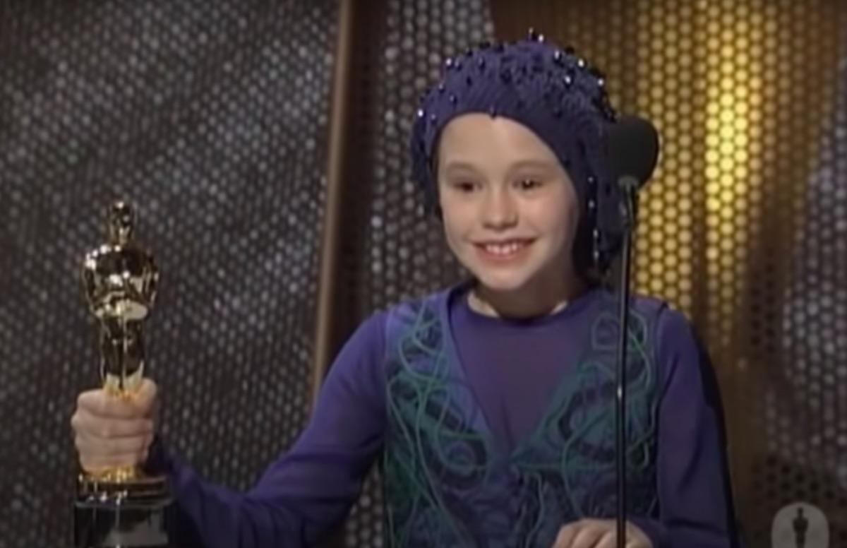 Anna Paquin winning her Oscar