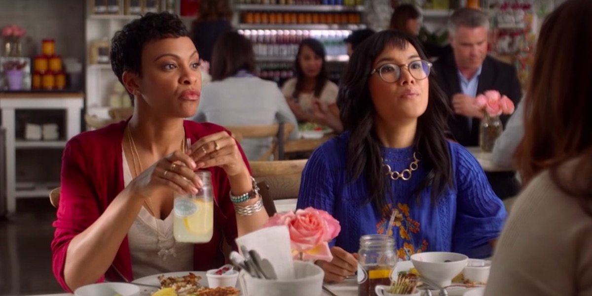 Carly Hughes and Ali Wong in American Housewife