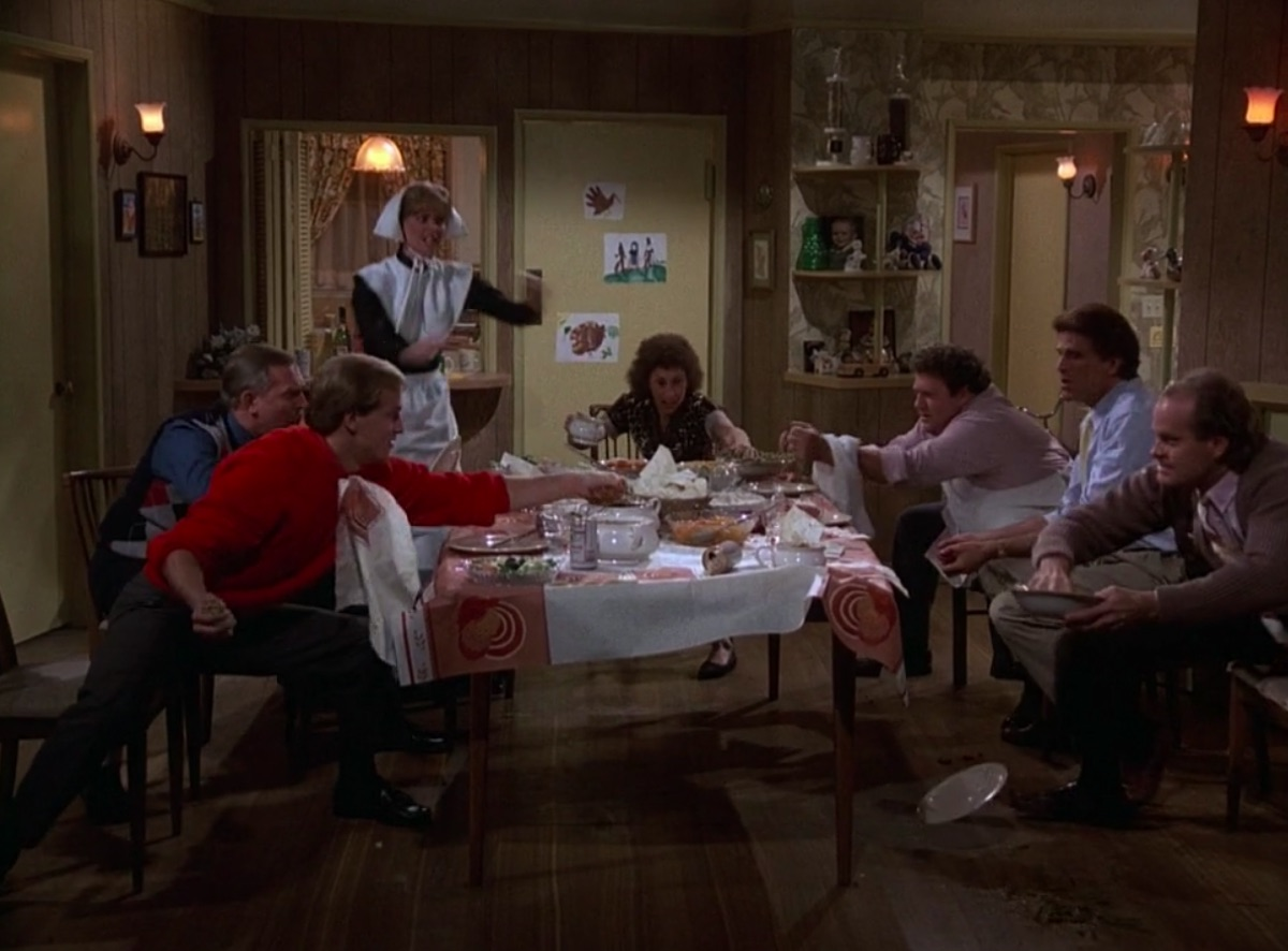 """Still from the Cheers episode, """"Thanksgiving Orphans"""""""